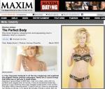 Maxim feature ~ printed in Maxim UK